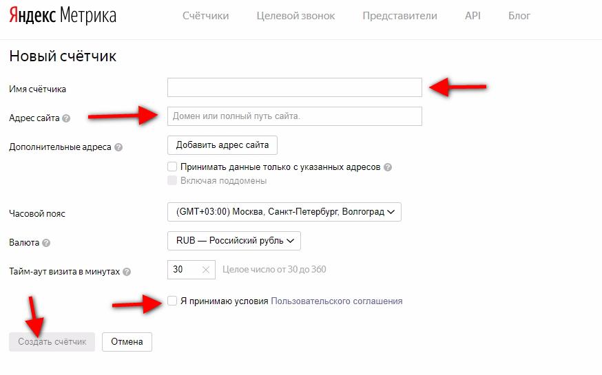 Как установить счетчик Яндекс Метрики на сайт