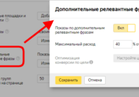 Показы по дополнительным релевантным фразам включать или нет в Яндекс Директ