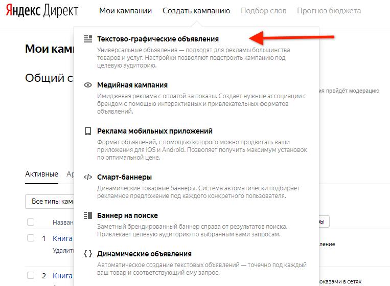 Настроить РСЯ Яндекс Директ