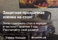 Настройка рекламной кампании в Яндекс Директ - Плёнка ПВХ на стол - Объявление в РСЯ