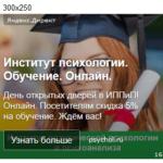Настройка рекламы в Яндекс Директ – Обучающие программы института психологии