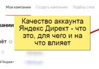 Качество аккаунта Яндекс Директ - что это, для чего и на что влияет