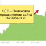 SEO – Поисковое продвижение сайта reklama-rs.ru – Кейс